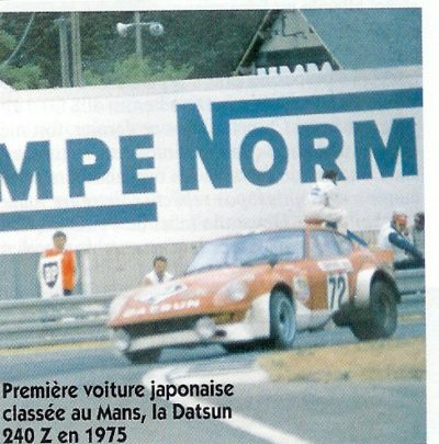 datsun 240z premiere classée au mans en 1975