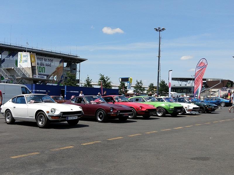 Classic Days ; une partie des Datsun présentes